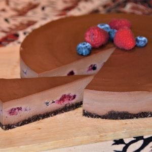 Chocolate Berry Cheesecake