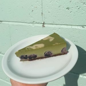 Matcha Blueberry Cheesecake