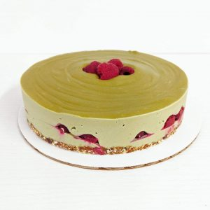 Matcha-Raspberry Cheesecake